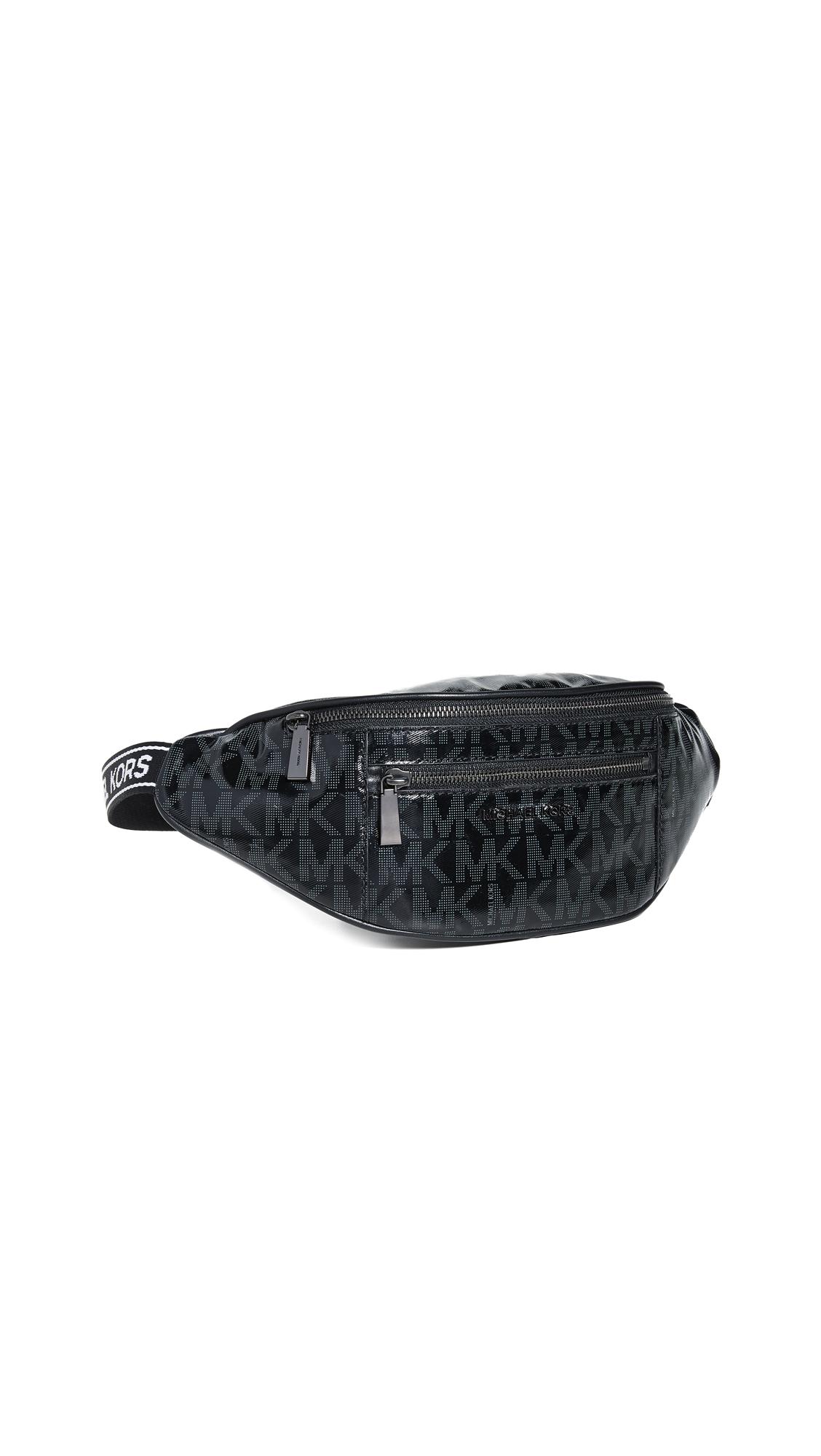 Michael Michael Kors Mott Medium Waistpack In Black