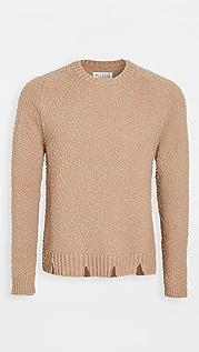 Maison Margiela Distressed Casentino Crew Neck Sweater