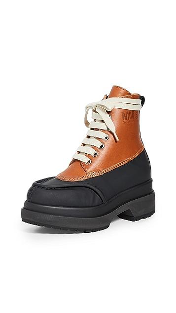 Photo of  MM6 Maison Margiela Combat Boots- shop MM6 Maison Margiela Boots, Flat online sales