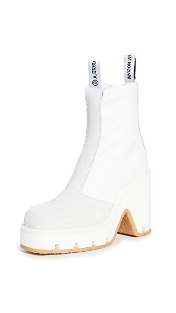 MM6 Maison Margiela Platform Booties
