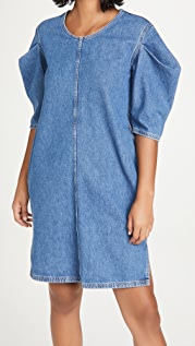 MM6 Maison Margiela Denim Ruffle Sleeve Dress