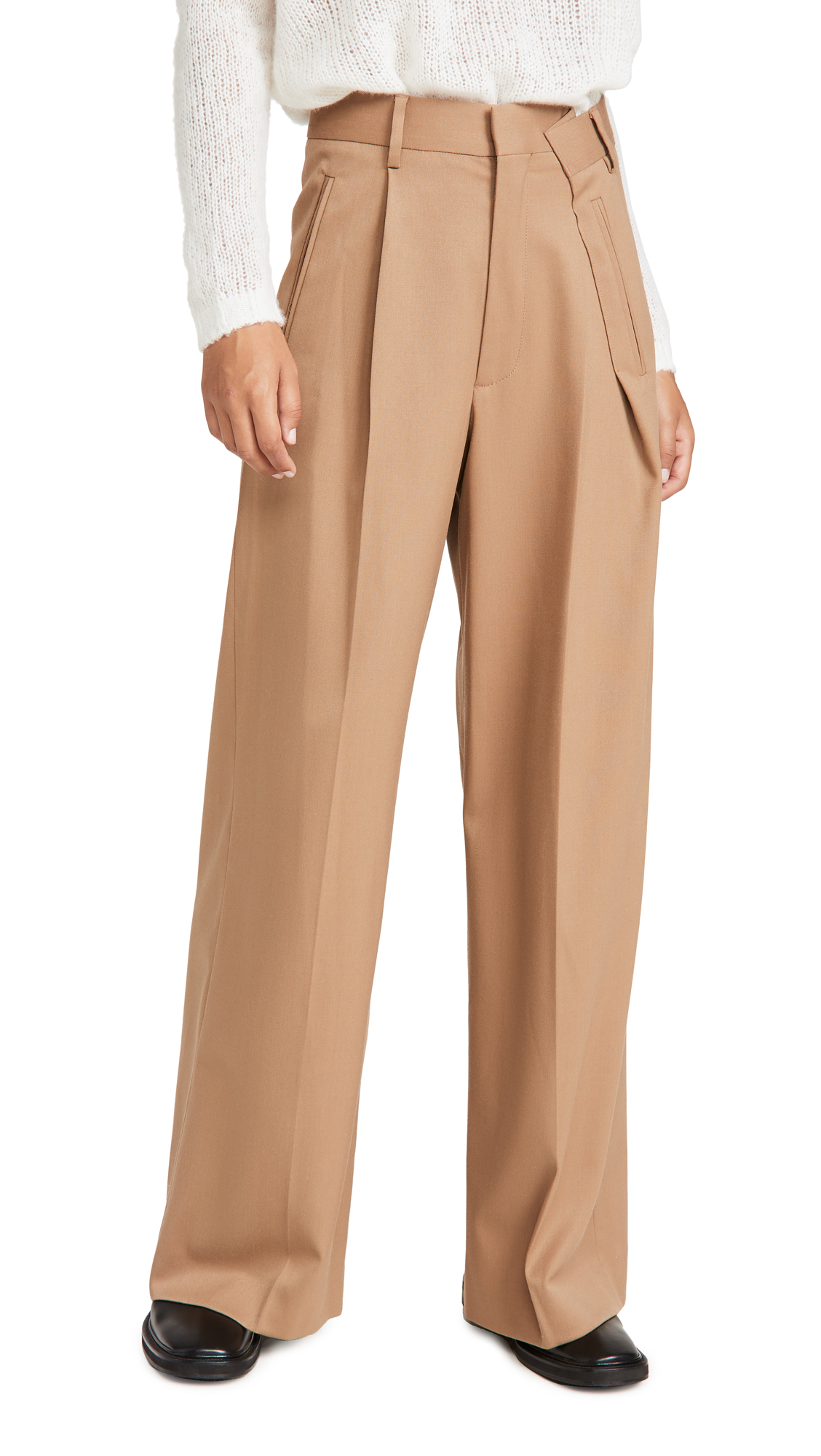 Mm6 Maison Margiela WIDE LEG PLEATED TROUSERS