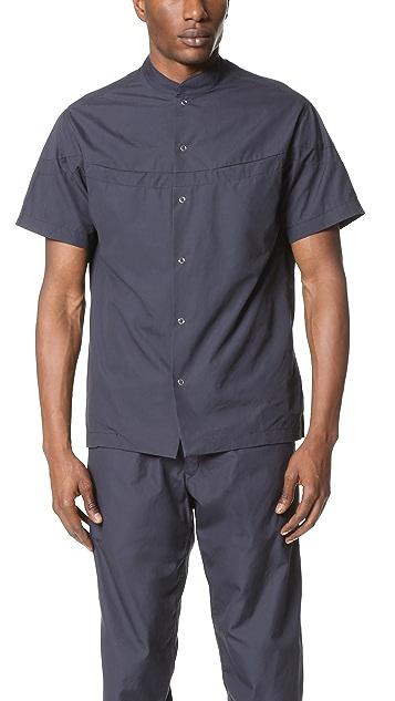 Monitaly Round Panel Mao Collar Shirt