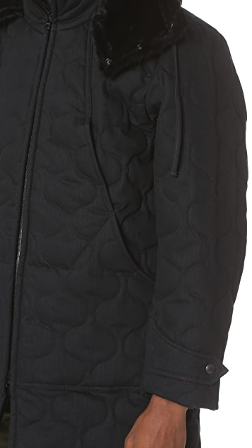 Monitaly Herringbone Cotton Quilted Work Jacket