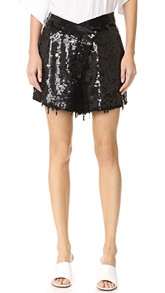 Monse Embroidered Shorts