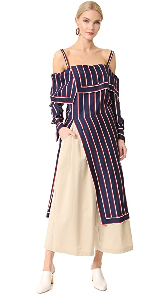 Monse Off Shoulder Striped Top