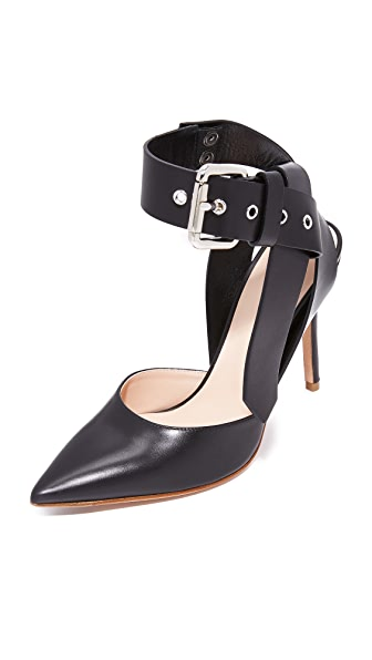 Monse Ankle Strap Pumps - Black