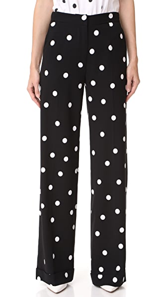Monse Polka Dot Pants - Black/White