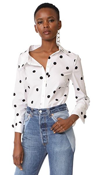 Monse Button Down Shirt - White/Black