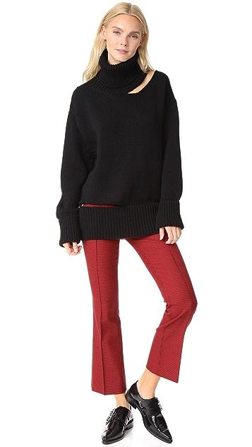 Monse Cutout Turtleneck Sweater