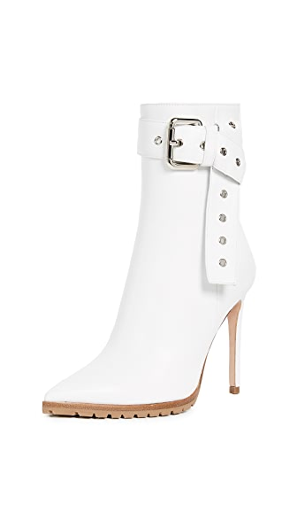 Monse Leather Booties In White