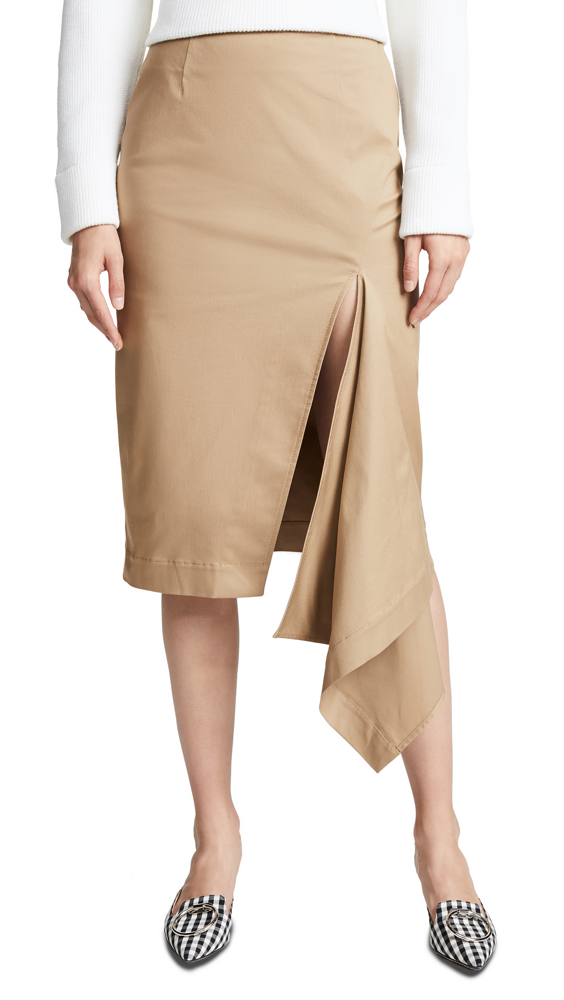 Monse Slash Skirt In Khaki