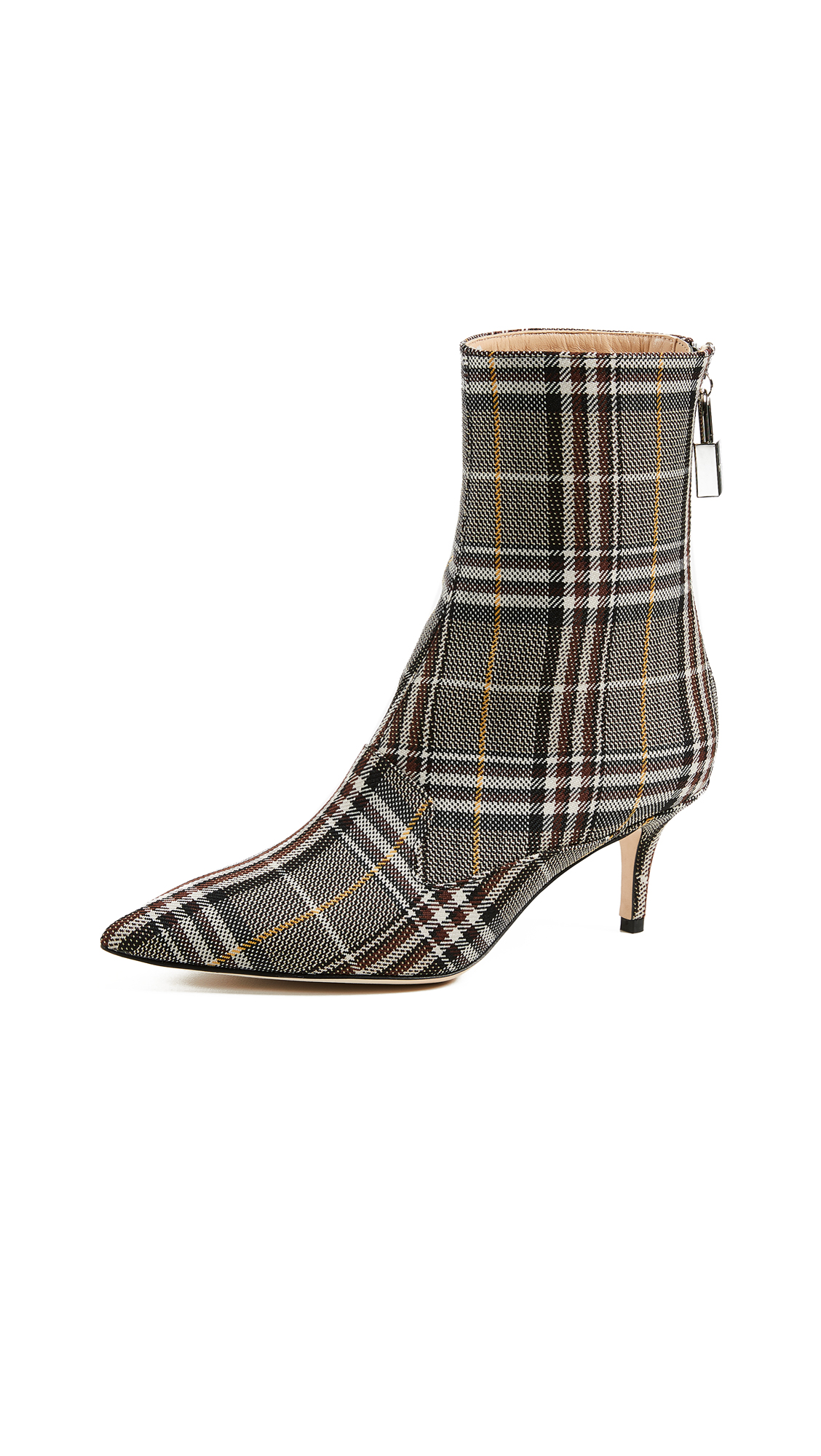 Monse Lock Booties - Plaid Charcoal