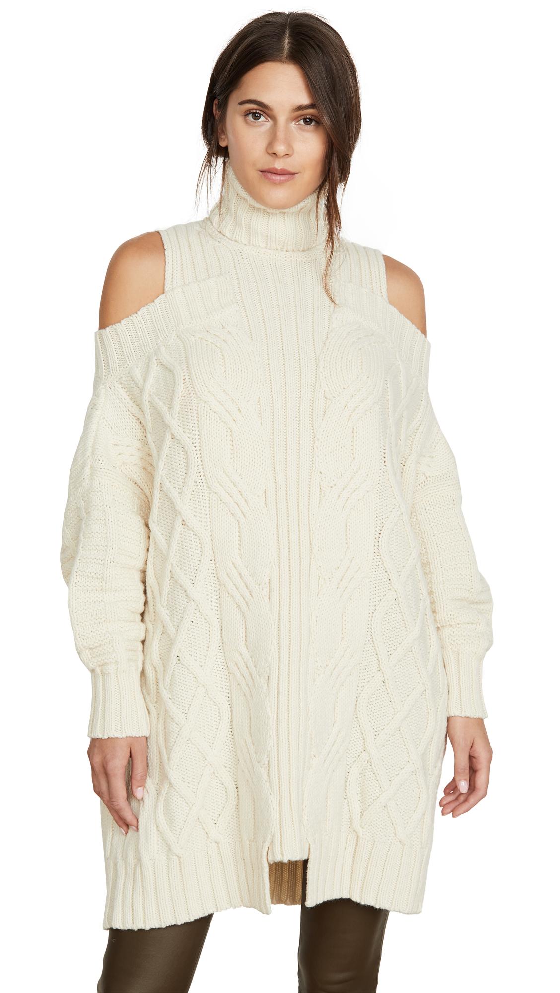 Buy Monse online - photo of Monse Cold Shoulder Fisherman Sweater