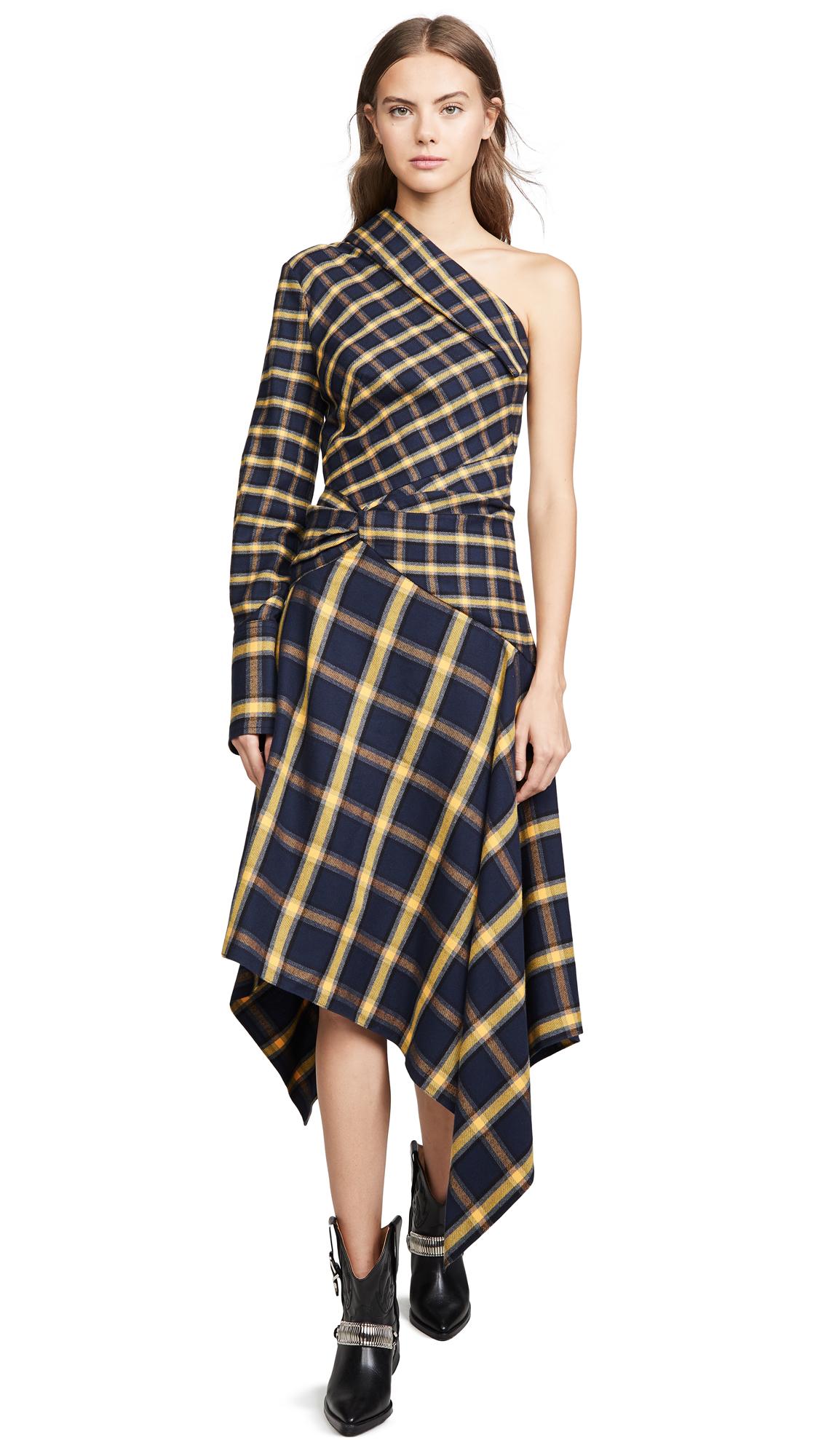 Buy Monse online - photo of Monse Asymmetrical Patchwork Dress