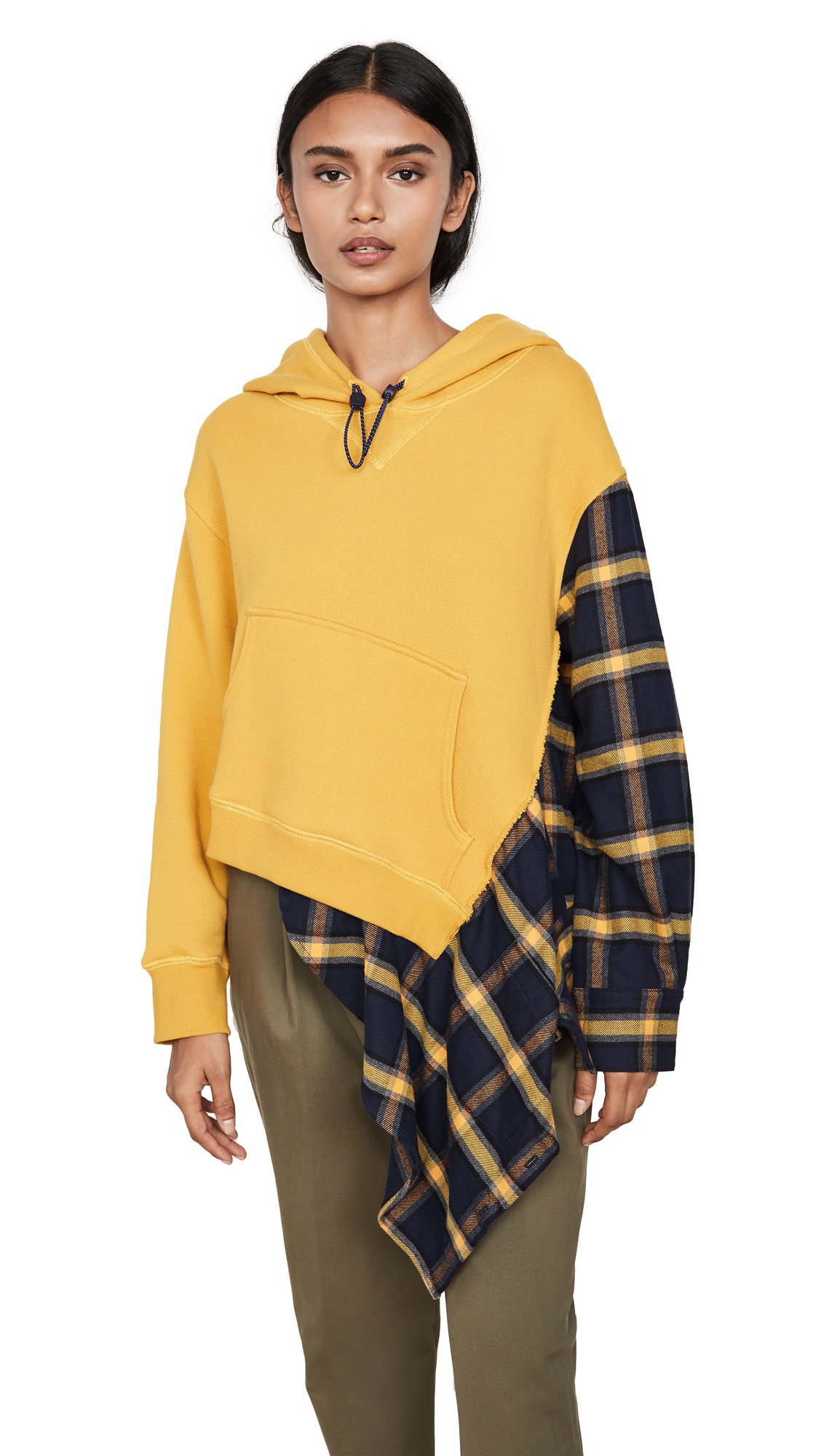 Monse Flannel Cascade Hoodie – 40% Off Sale