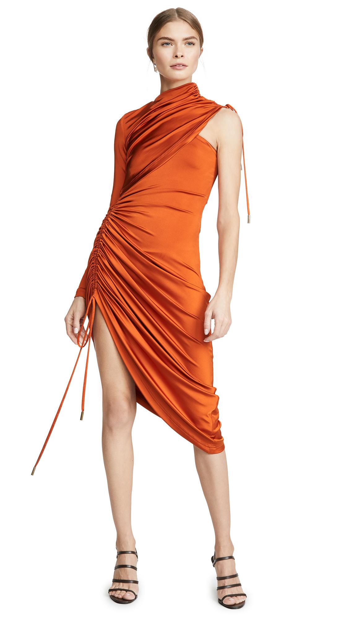 Buy Monse Asymmetrical Drawstring Jersey Dress online beautiful Monse Clothing, Dresses