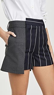 Monse Pinstripe Extended Shorts