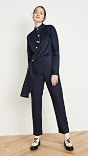 Monse Twill Contrast Stitch Jumpsuit