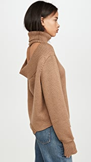 Monse Cowl Back Upside Down Sweater