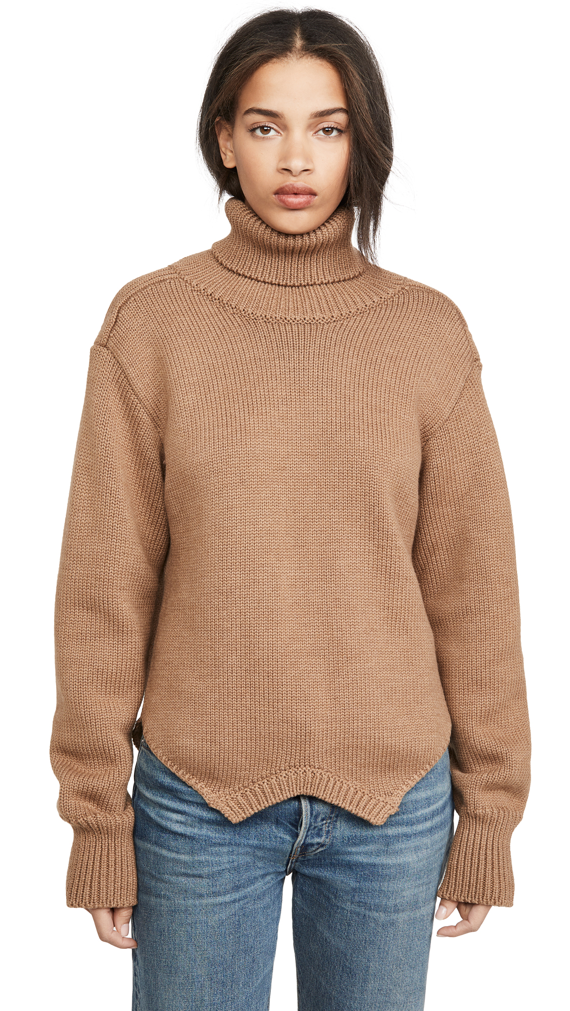Buy Monse online - photo of Monse Cowl Back Upside Down Sweater