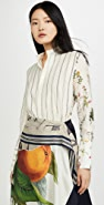 Monse Half & Half Botanic And Stripe Shirt