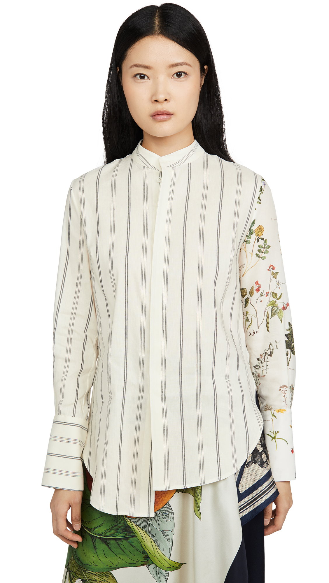 Monse Half & Half Botanic And Stripe Shirt – 40% Off Sale