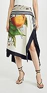 Monse Grove And Toolbox Asymmetric Silk Scarf Skirt