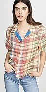 Monse Basket Weave Havana Shirt