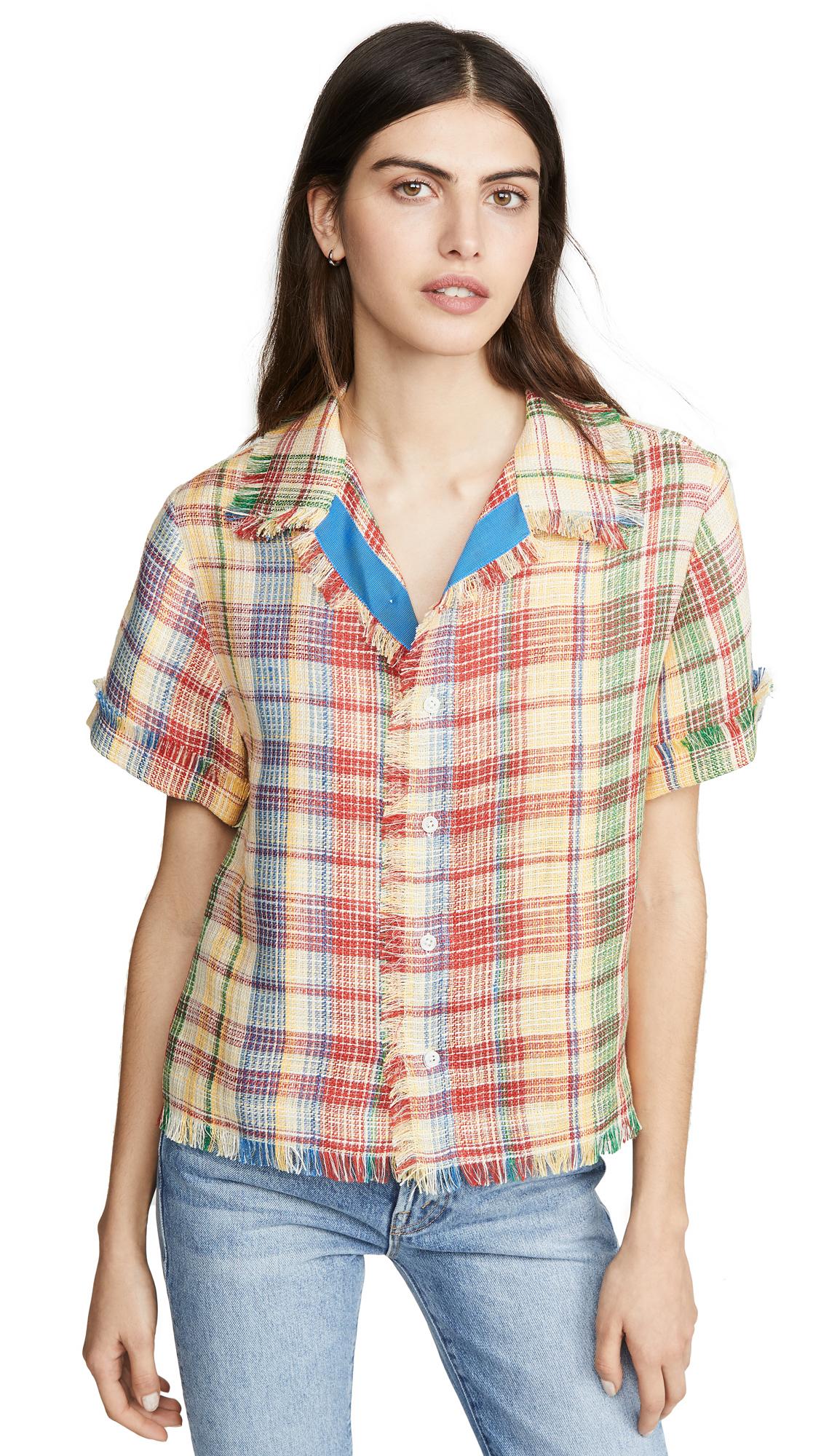 Monse Basket Weave Havana Shirt - 40% Off Sale