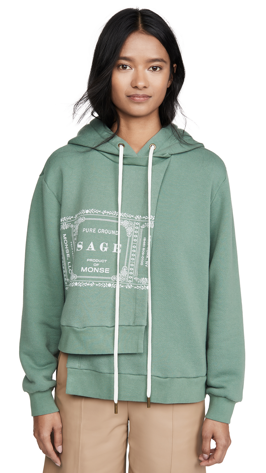 Monse Sage Double Layer Hoodie - 40% Off Sale