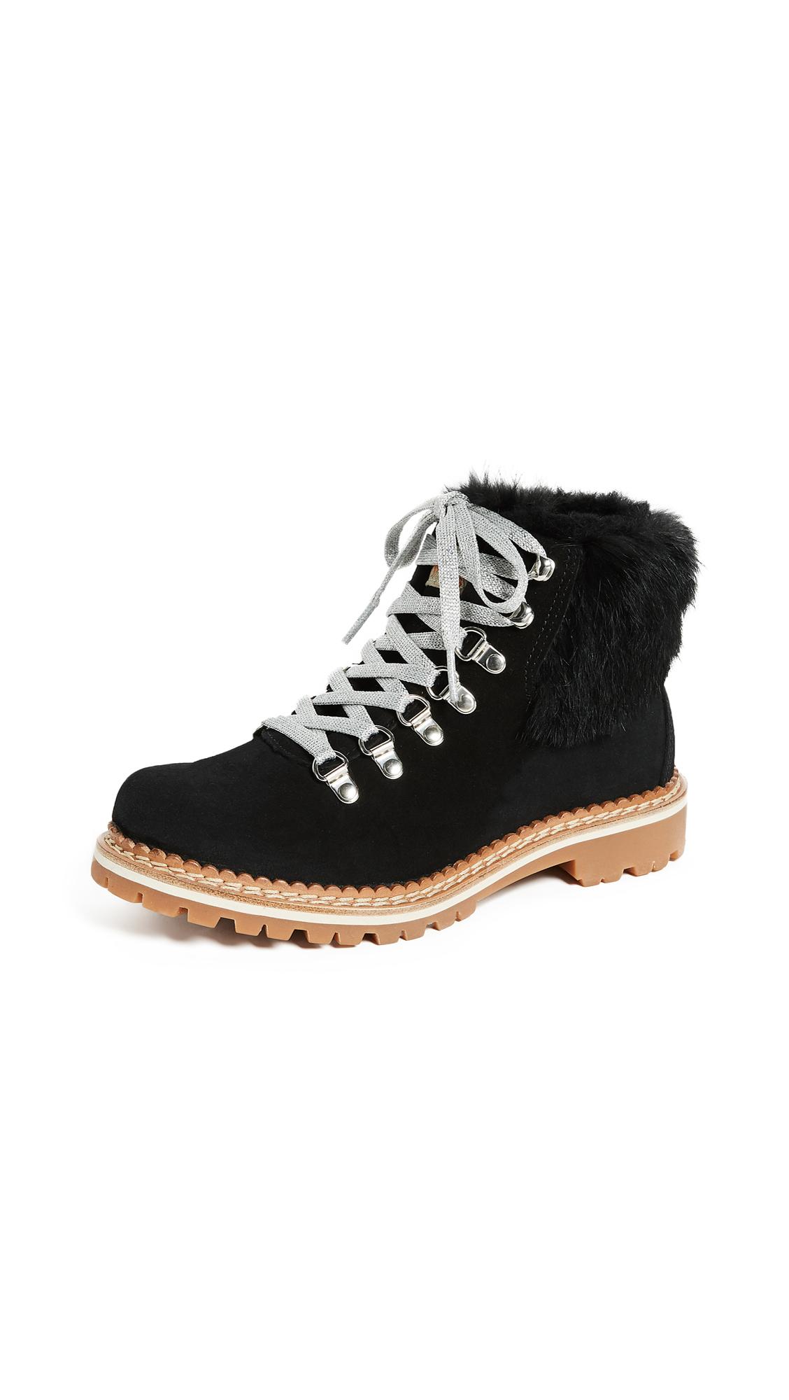 Montelliana Camelia Hiker Boots - Black/Black