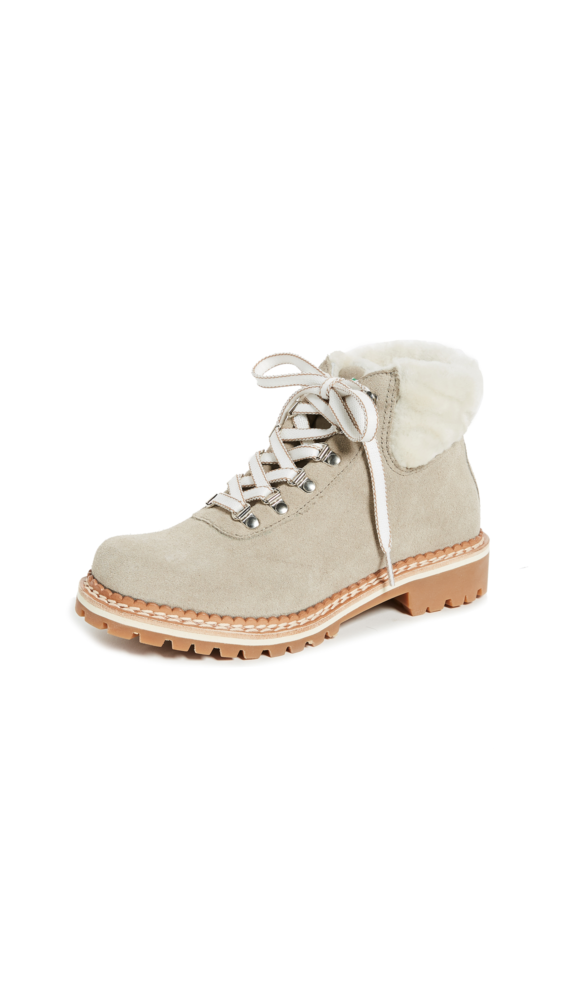 Montelliana Sequoia Hiker Boots - Beige/White