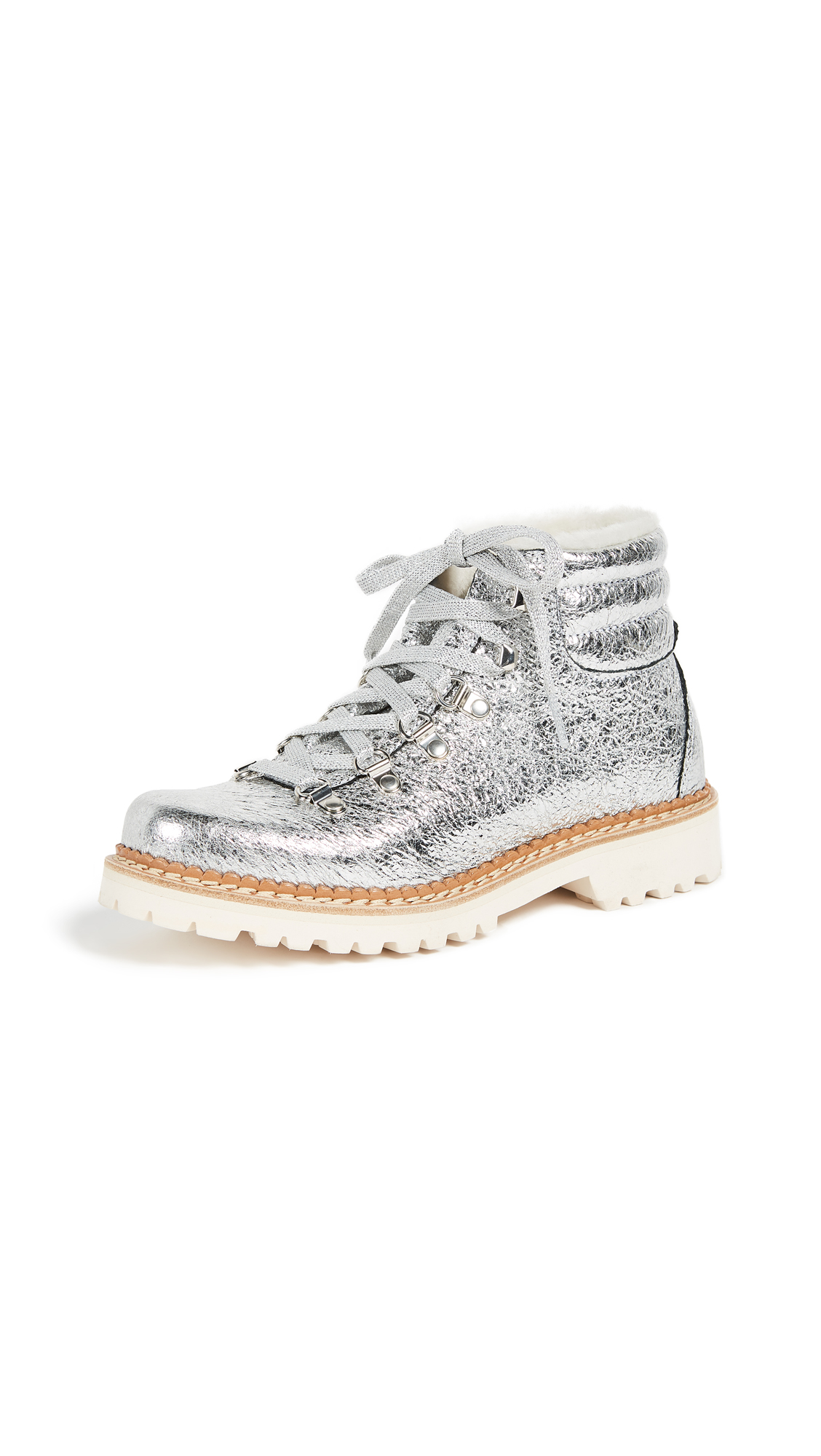 Montelliana Margherita Hiker Boots - Silver