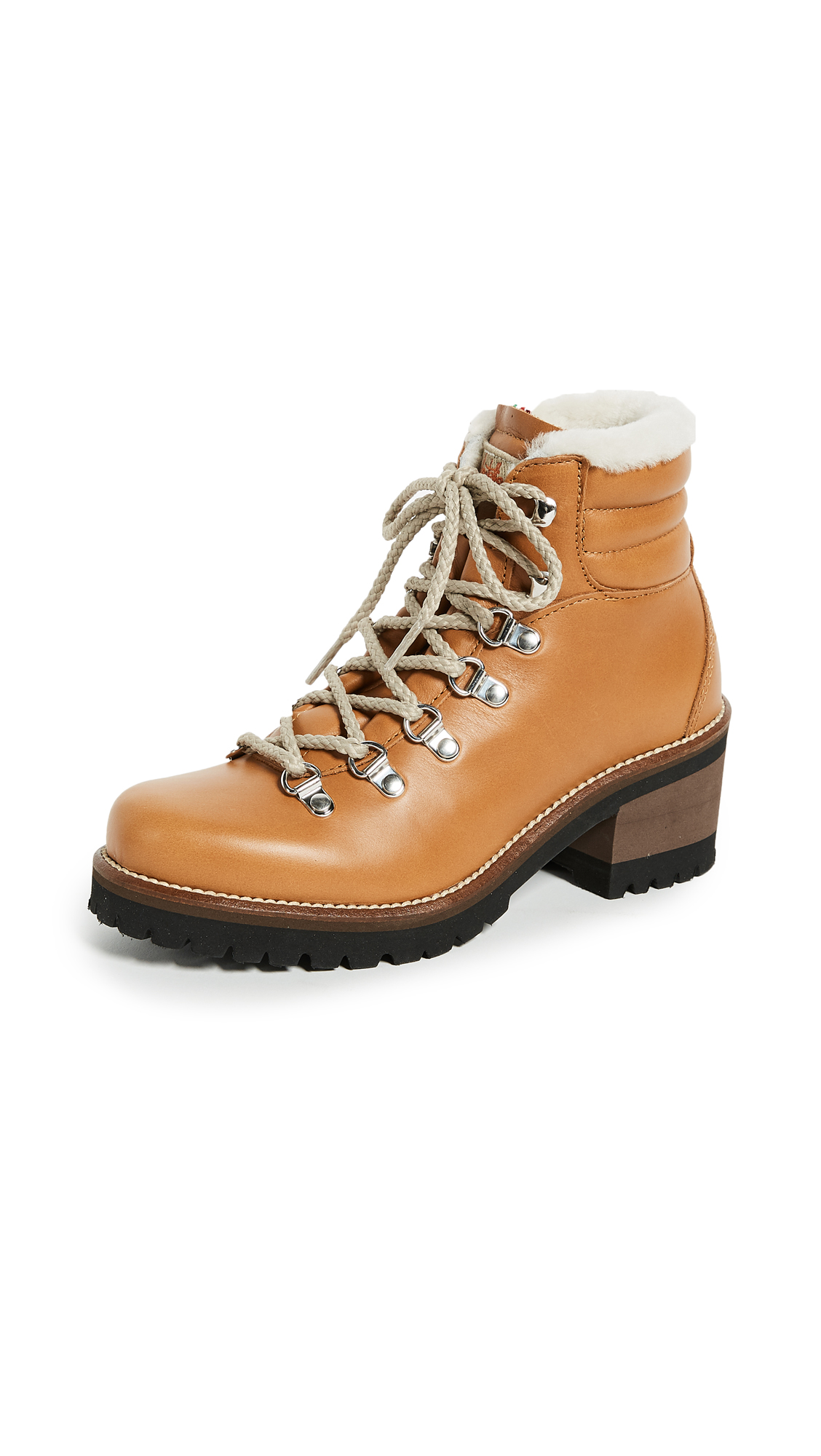 Montelliana Ninfea Heeled Hiker Boots - Tan