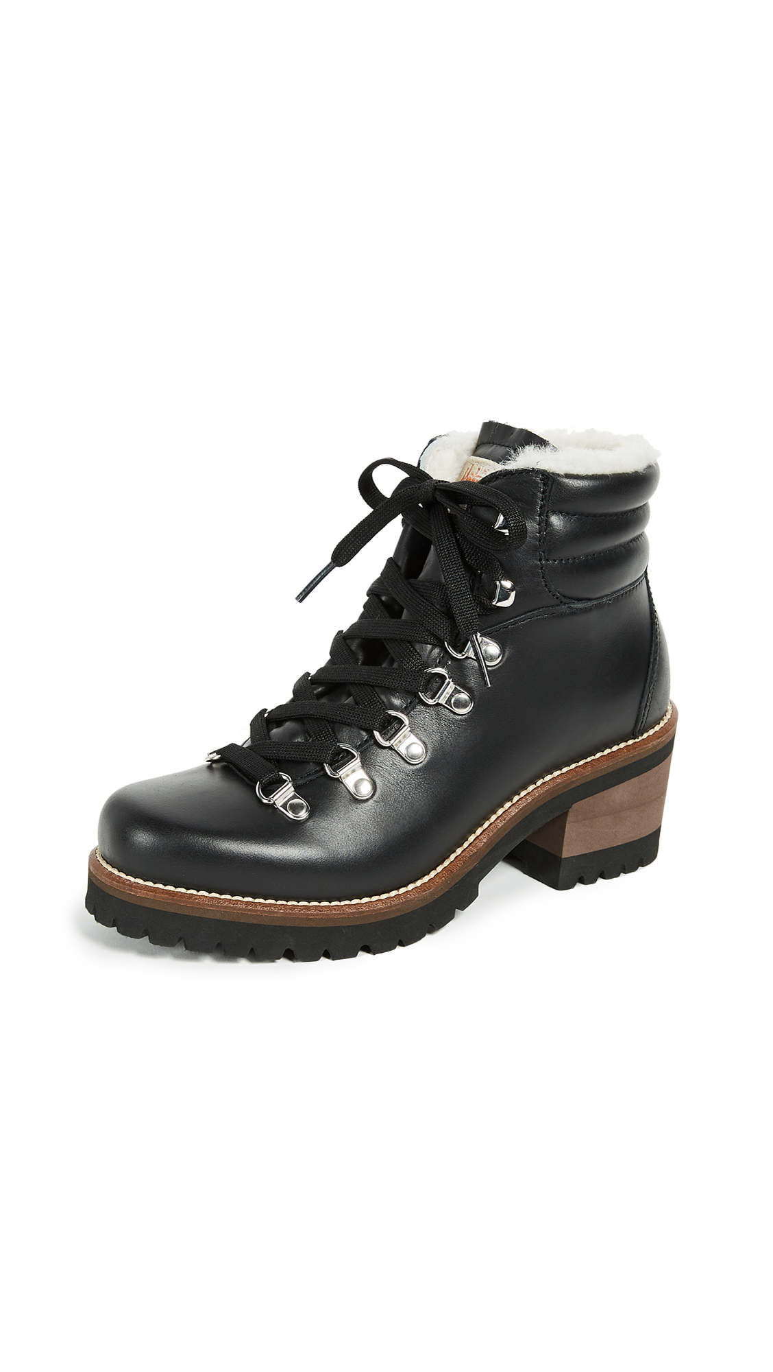 Montelliana Ninfea Heeled Hiker Boots - Black