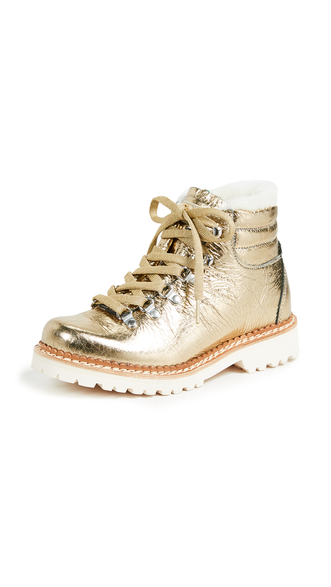 MONTELLIANA Margherita Hiker Boots in Gold