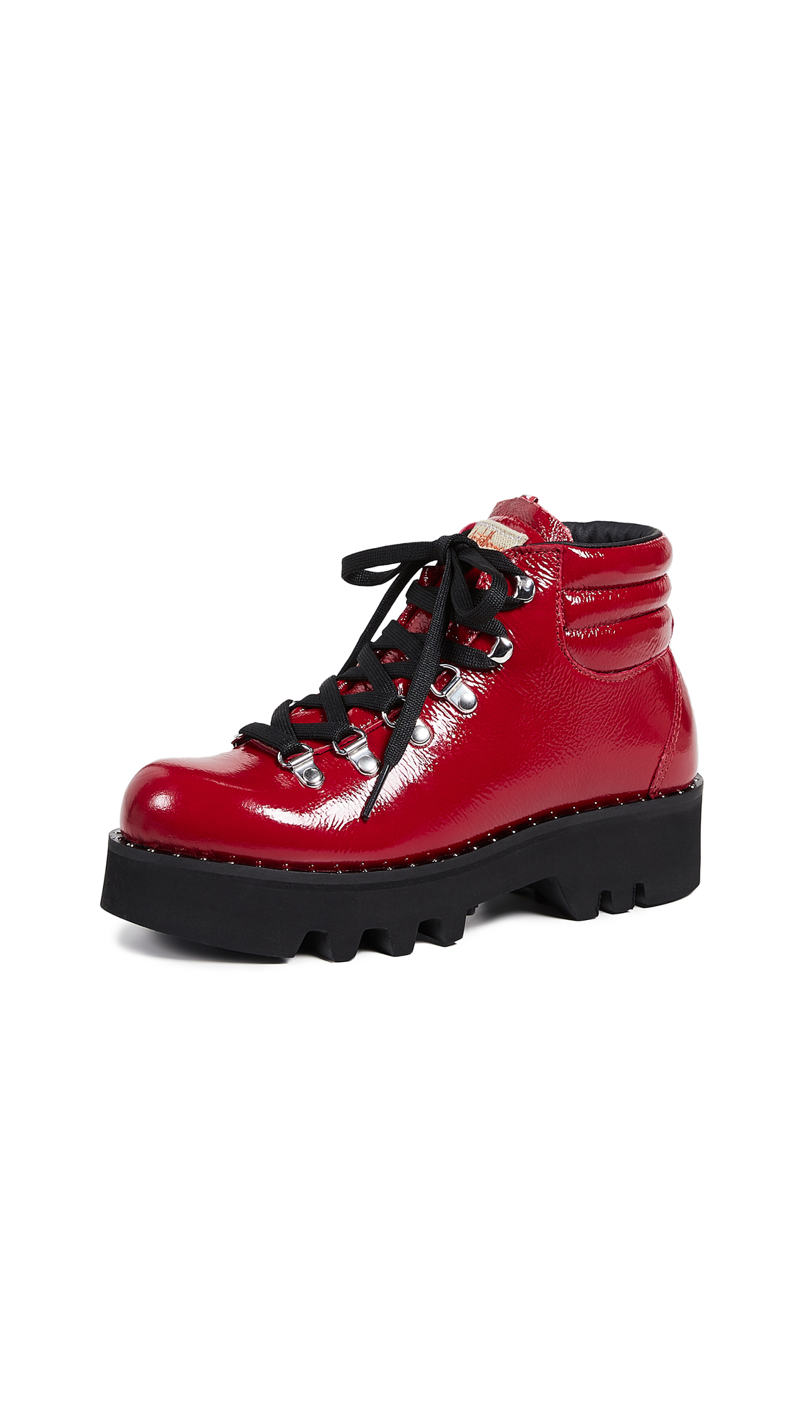 MONTELLIANA Anabel Hiker Boots in Red