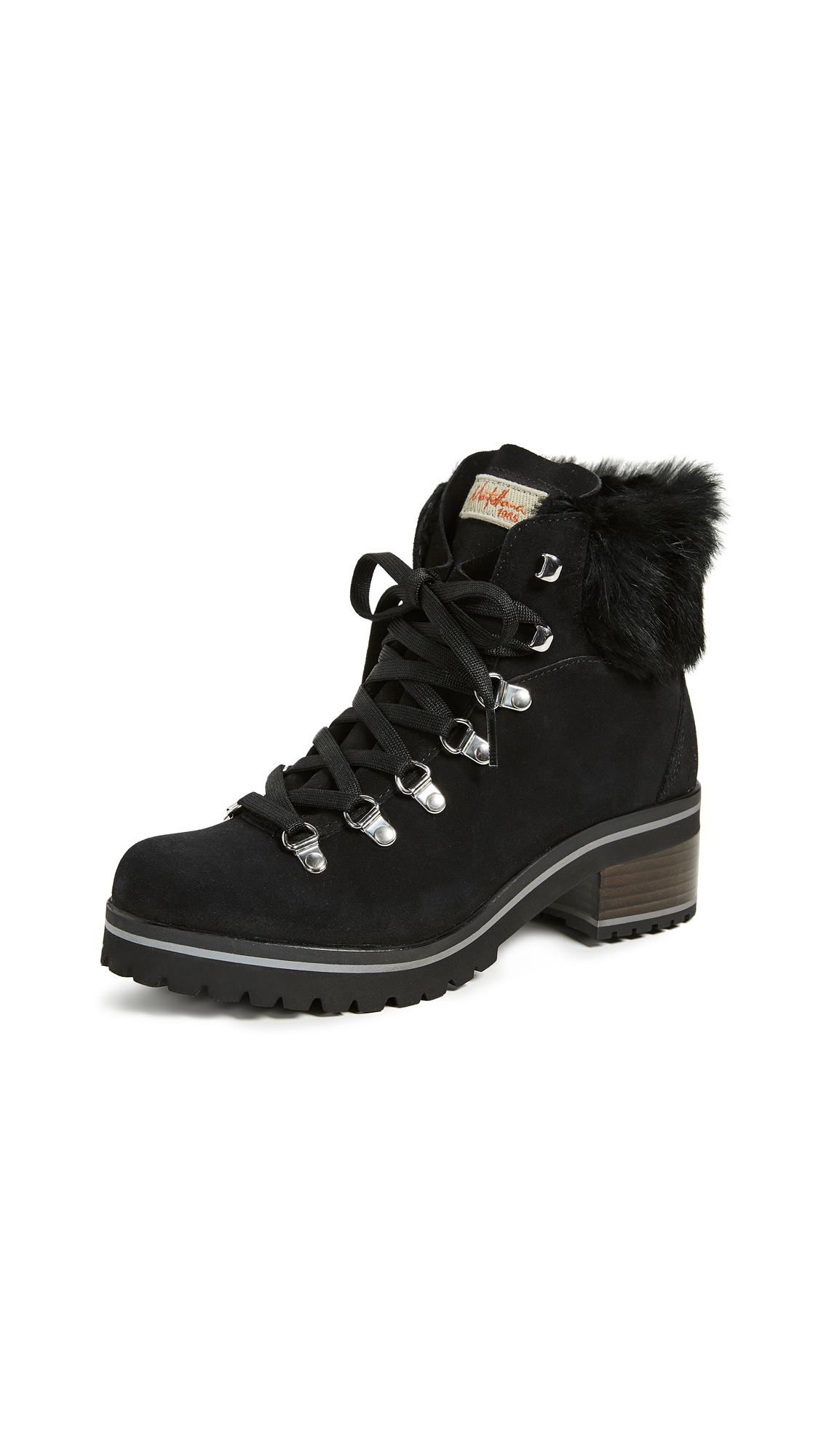 MONTELLIANA Ninfea Hiker Boots in Black