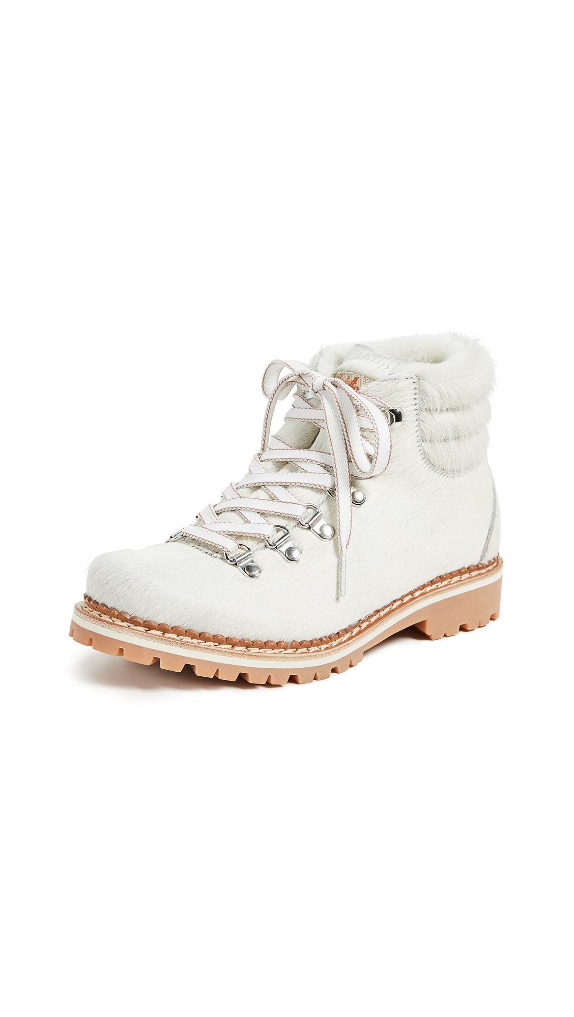 MONTELLIANA Margherita Hiker Boots in White