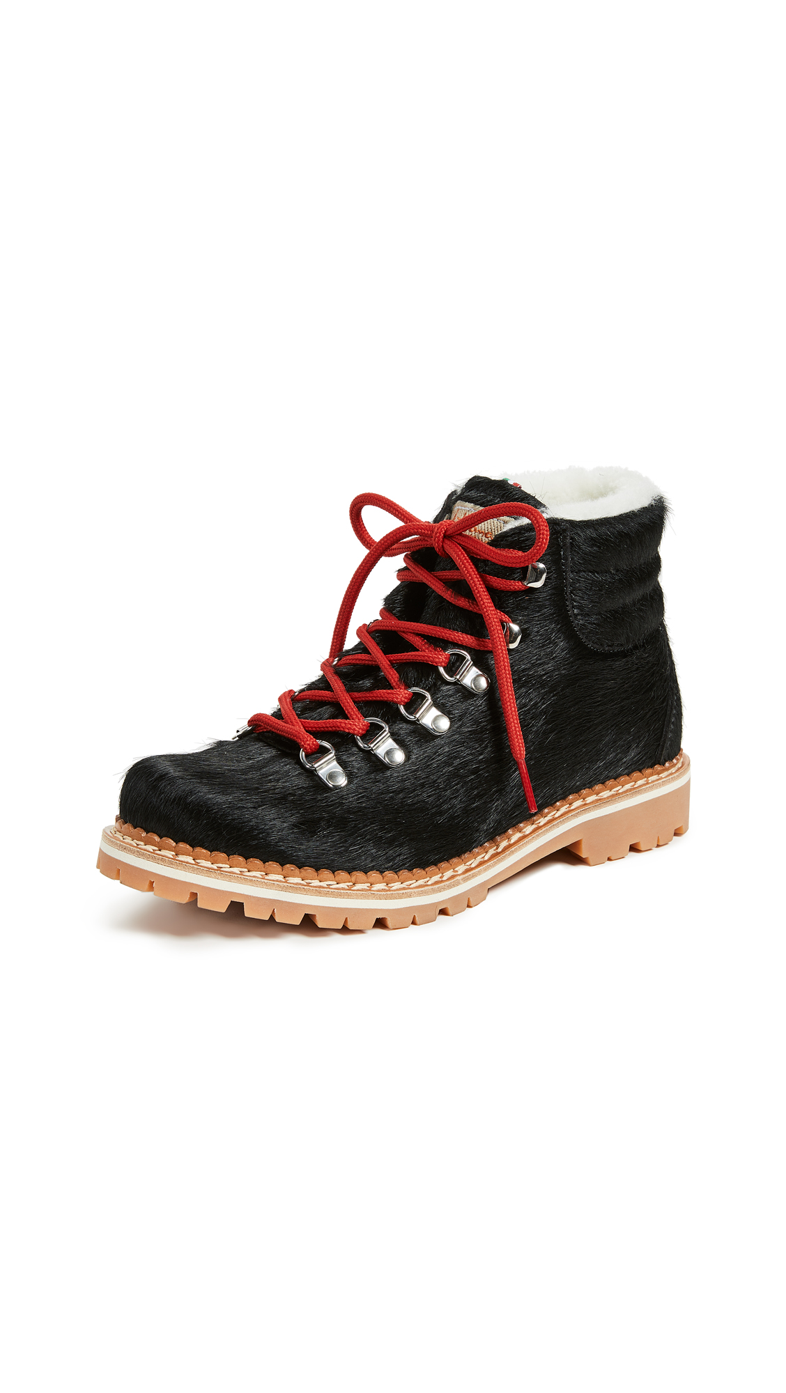 MONTELLIANA Margherita Hiker Boots in Black