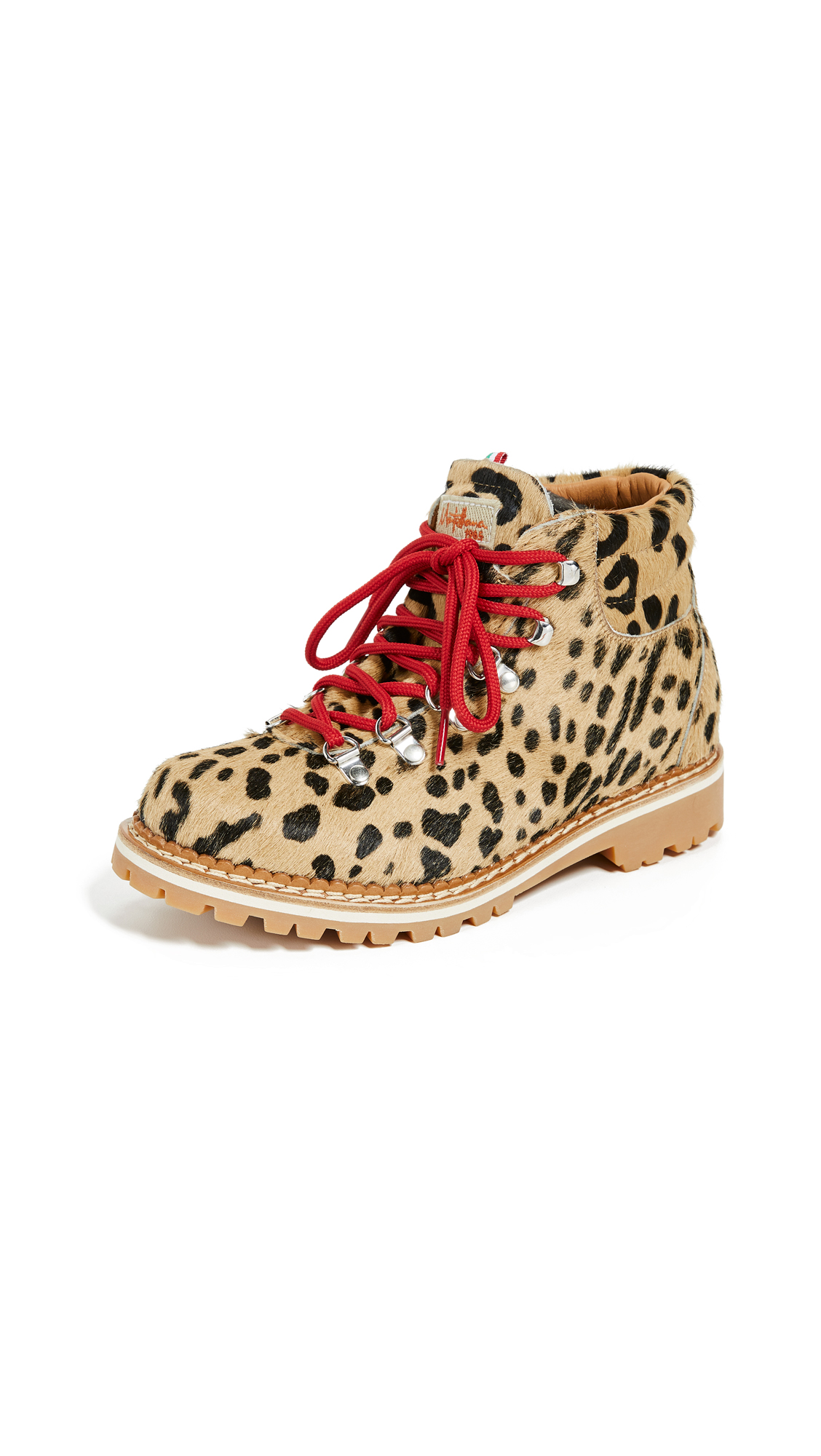 MONTELLIANA Margherita Hiker Boots in Leopard