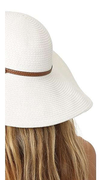 MELISSA ODABASH Raffia Sun Hat in White