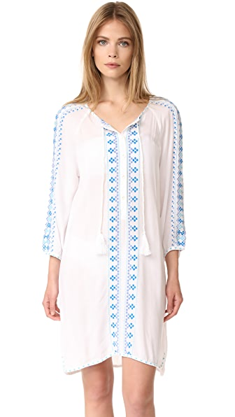 Melissa Odabash Sophia Dress - White/Cornflower