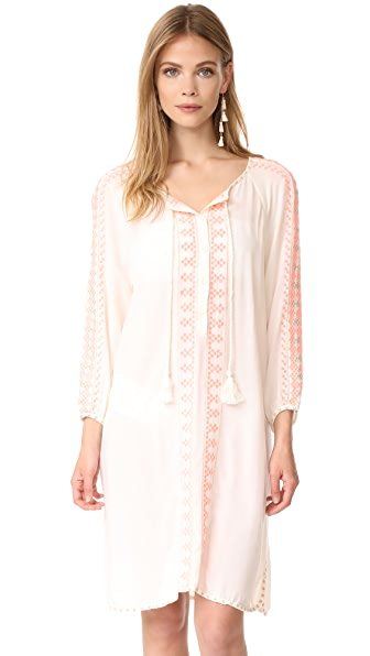Melissa Odabash Sophia Dress - Cream/Fluro