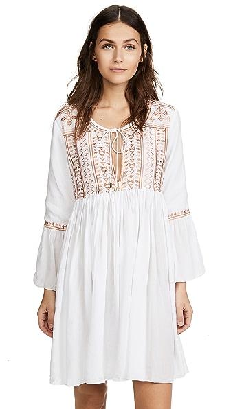 MELISSA ODABASH Natalia Embroidered Voile Mini Dress in White