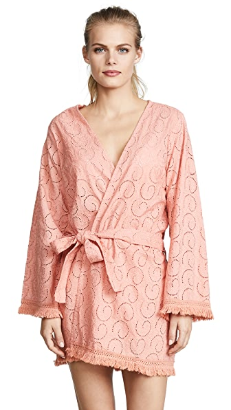 Melissa Odabash Pippa Cover Up Robe In Apricot