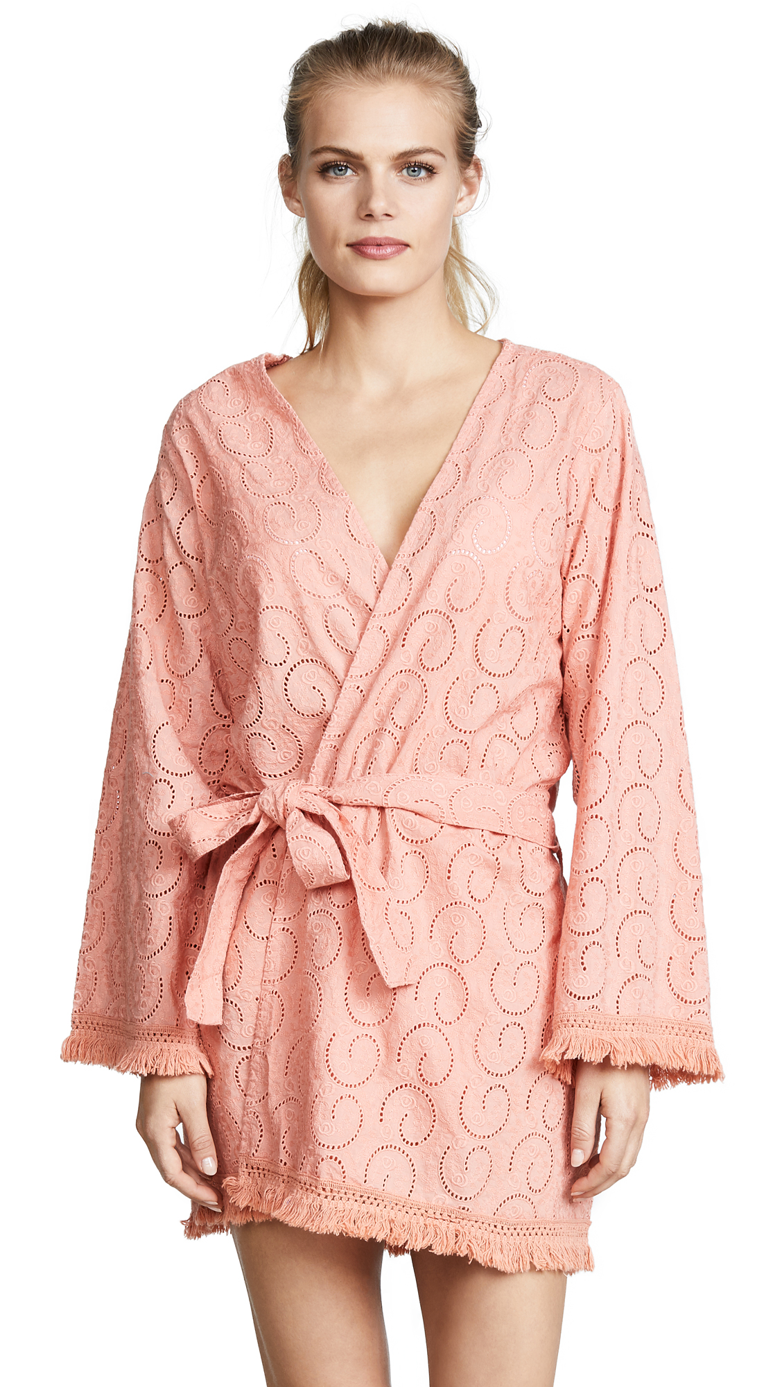 Melissa Odabash Pippa Cover Up Robe - Apricot