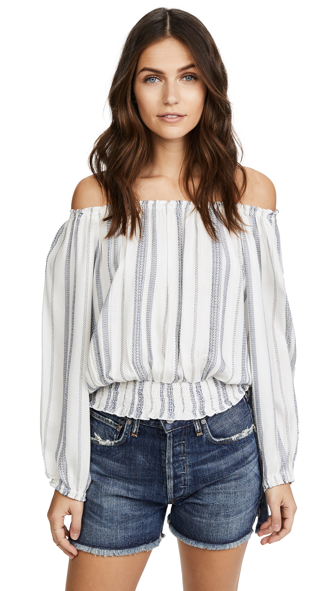 Melissa Odabash Adriana Top - Cream Stripe