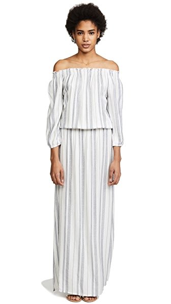 Melissa Odabash Amber Dress In Cream Stripe